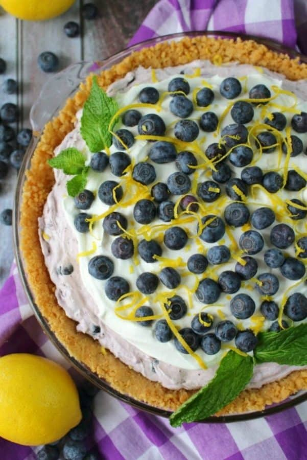 Creamy Blueberry Pie from Delightful E Made