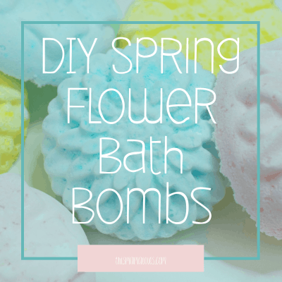 DIY Spring Flower Bath Bombs