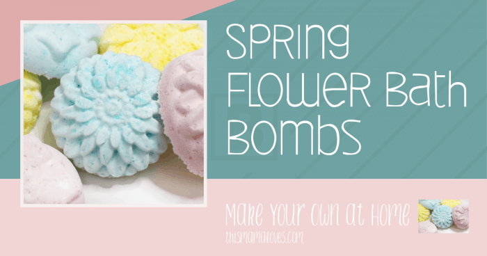DIY Spring Flower Bath Bombs from This Mama Loves