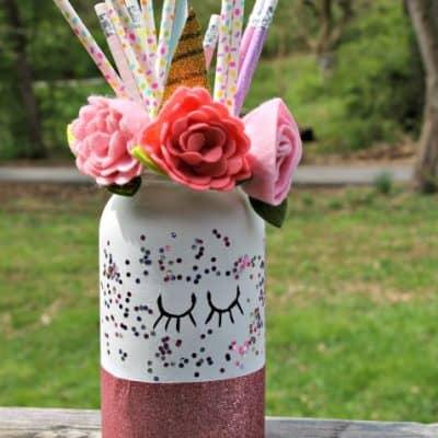 Cute DIY Mason Jar Unicorn Craft Tutorial
