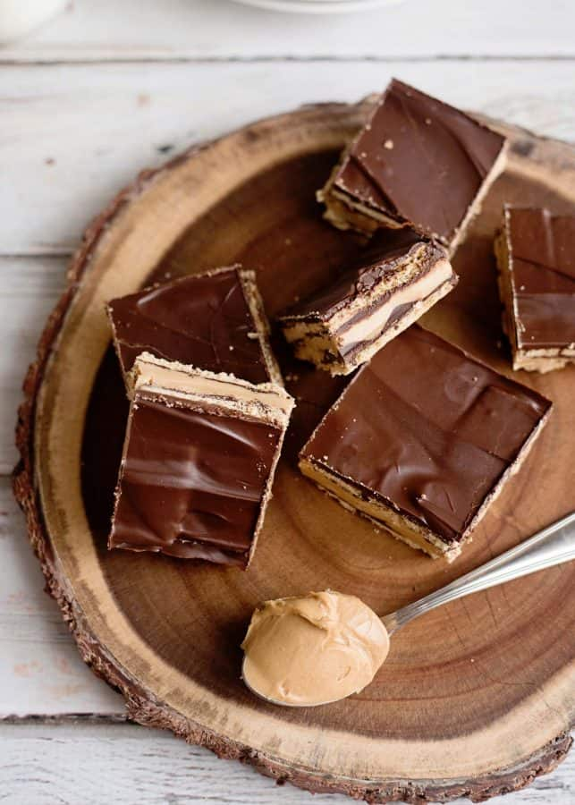 No Bake Peanut Butter Patty Bars from Home Made Lovely