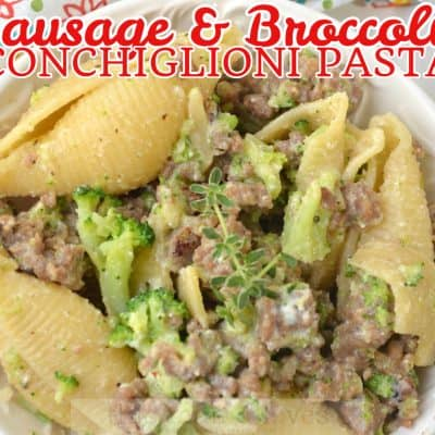 Sausage and Broccoli Conchiglioni Pasta