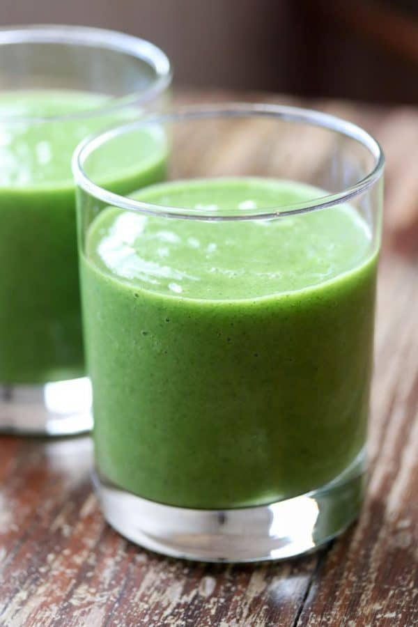 MANGO PINEAPPLE KALE SMOOTHIE from This Gal Cooks
