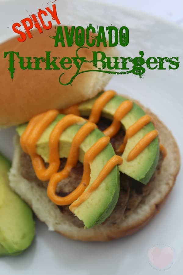 Spicy Avocado Turkey Burger Recipe from This Mama Loves blog