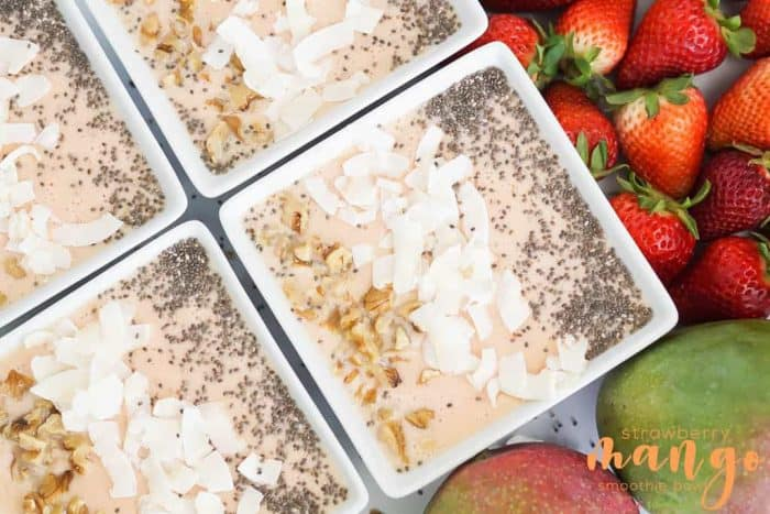 Strawberry Mango Smoothie Bowl from Simply Blended Smoothies