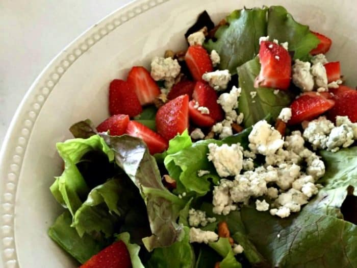 Strawberry Pecan and Blue Cheese Salad from Starfish Cottage
