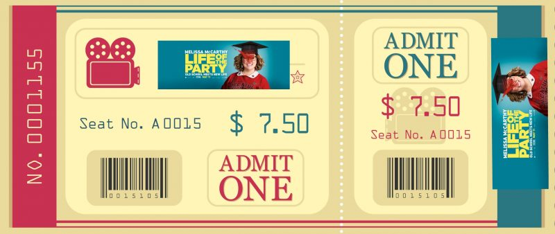 life of the party movie ticket