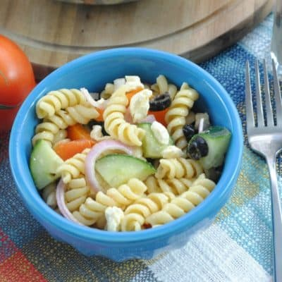 Our Favorite Greek Pasta Salad Recipe