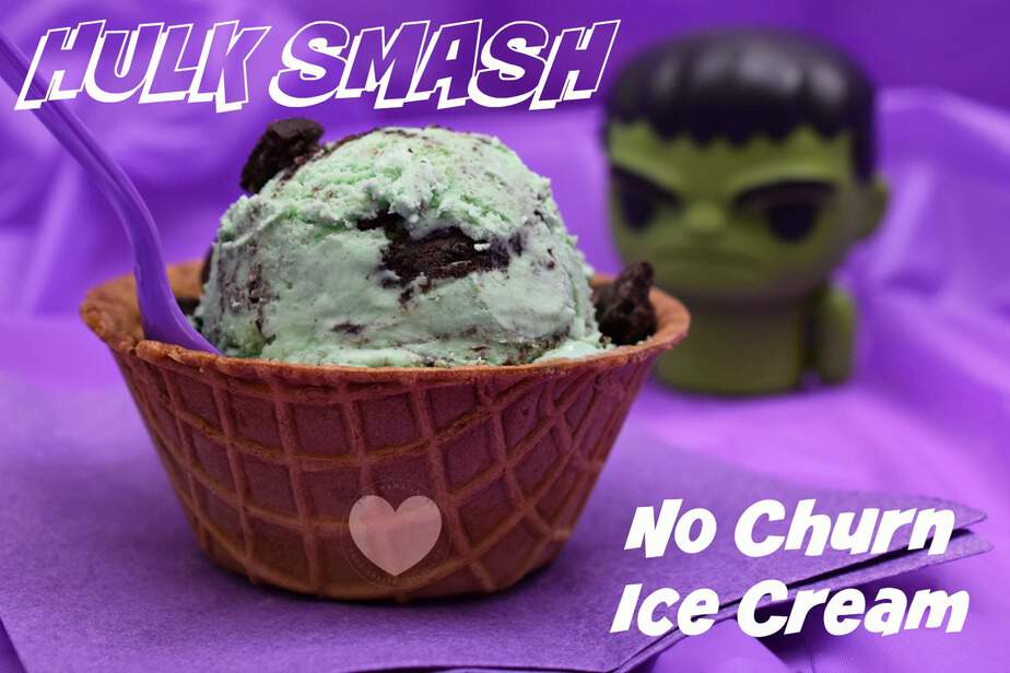 Hulk Smash No Churn Ice Cream Recipe