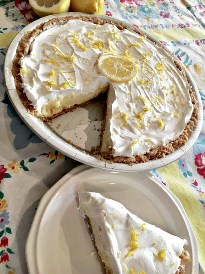 No Bake Lemon Cheesecake Pie from A Fun and Frugal Life