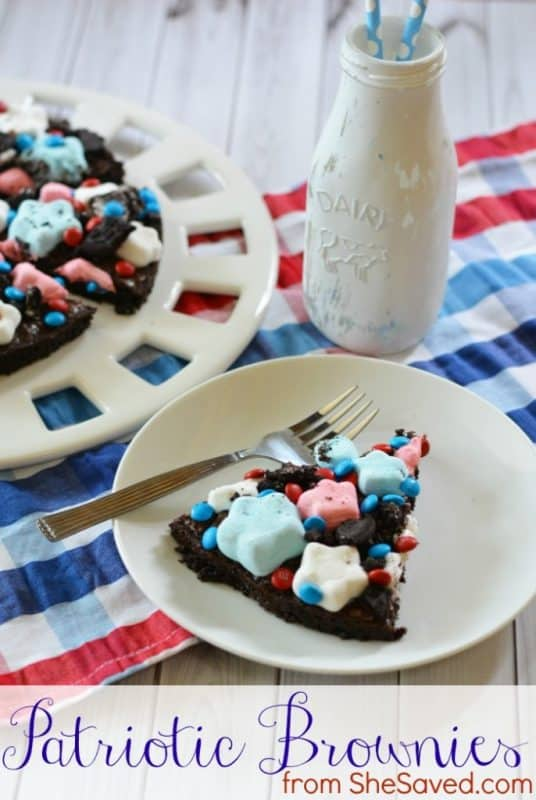 Patriotic Brownies from She Saved