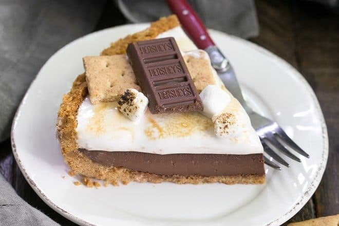 Smores Pie from That Skinny Chick Can Bake