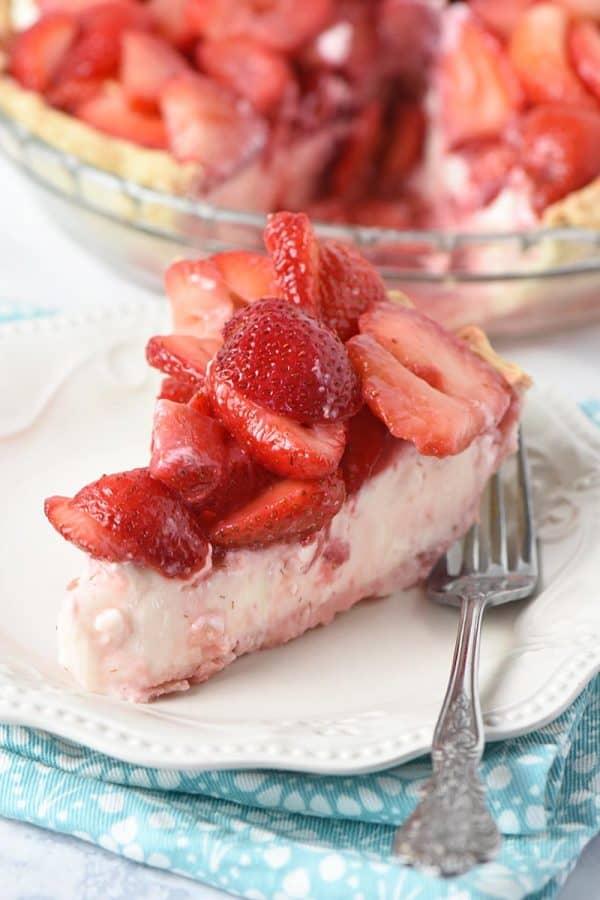 Strawberry Cream Pie from Adventures of Mel