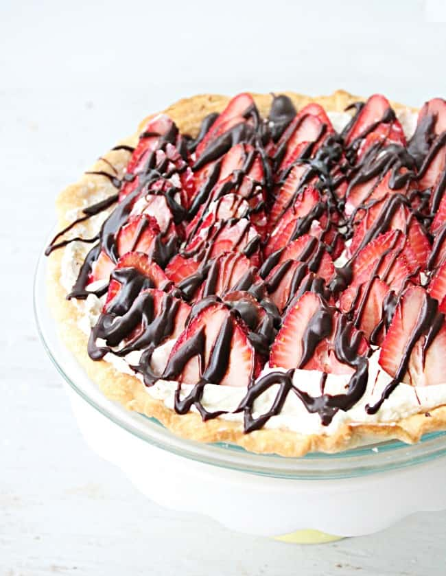 Strawberry Cream Pie from Our Table for Seven