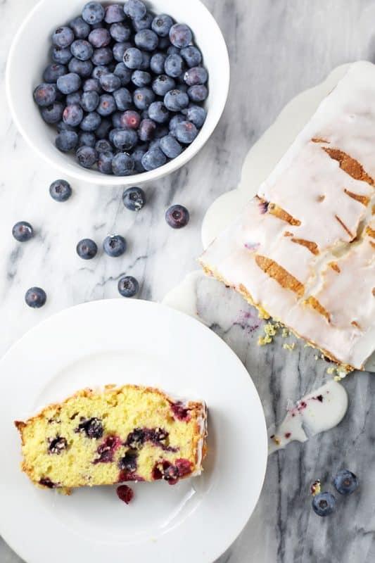 Blueberry Lemon Loaf Cake from Rose Bakes