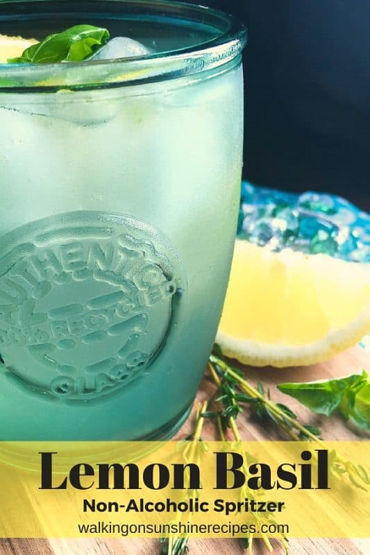 Lemon Basil Mint Spritzer from Walking on Sunshine Recipes