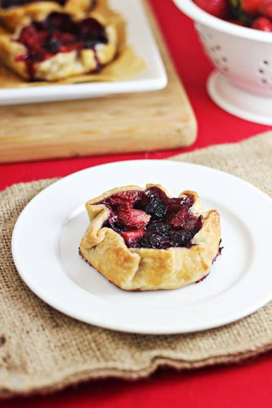 Mini Summer Berry Galettes from Home Cooking Memories