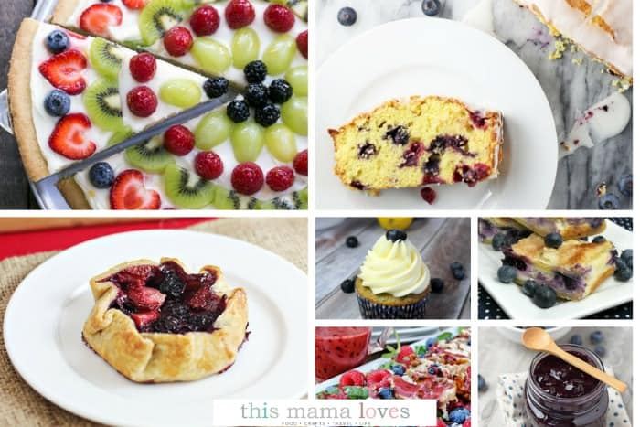 Summer Blueberries Recipes from This Mama Loves