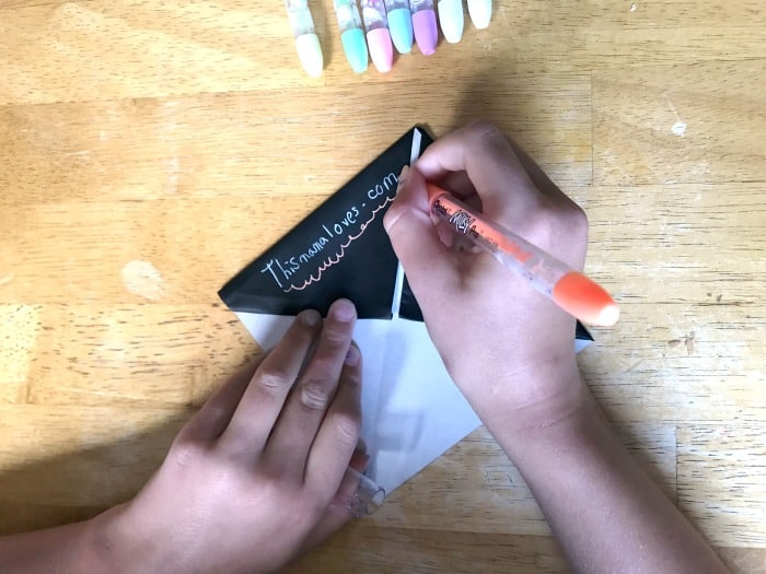 How to make page corner bookmarks milky pop pen