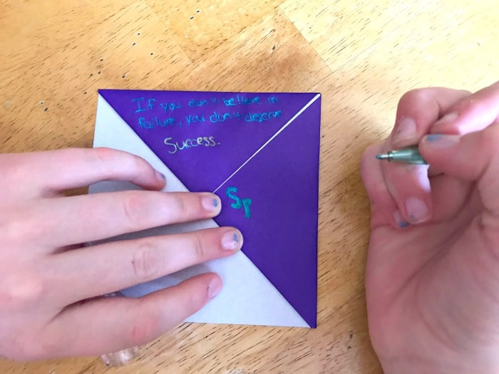 How to make page corner bookmarks sparkle pop pen