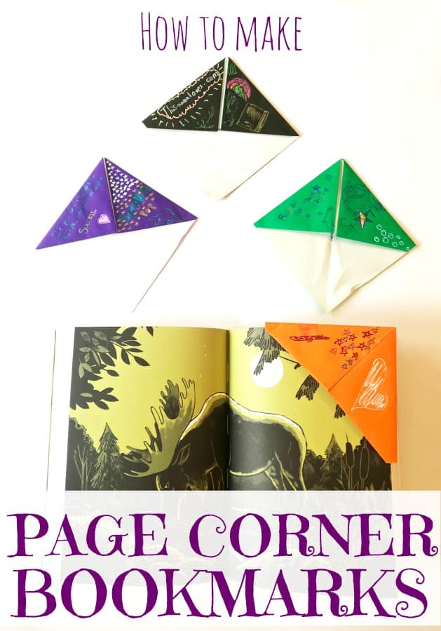 How to make easy page corner bookmarks with a fun POP of colors! DIY Bookmarks - Easy to make bookmarks, page corner bookmarks, cool effect pens, sparkle pens, milky pens, solar pens #PentelPop #ad  @PentelofAmerica @BrandConnectNYC