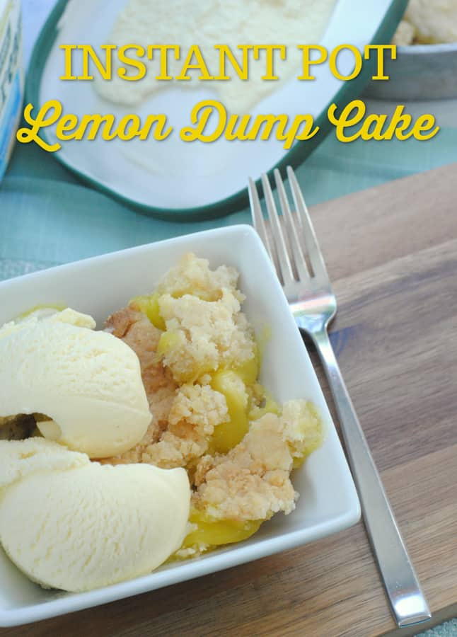 Instant Pot Lemon Dump Cake Recipe