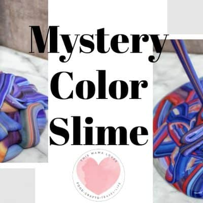 Mystery Color Homemade Slime Recipe