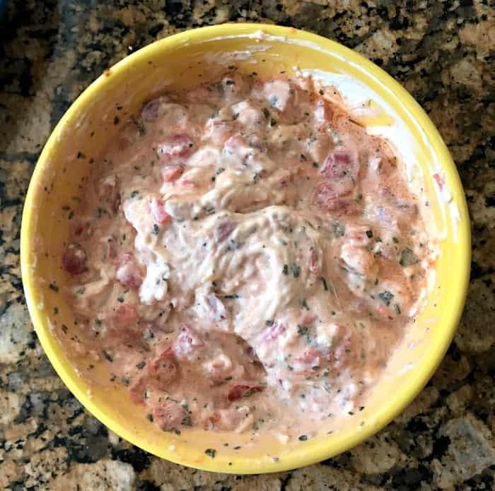 easy bruschetta dip recipe bruschetta mixed in