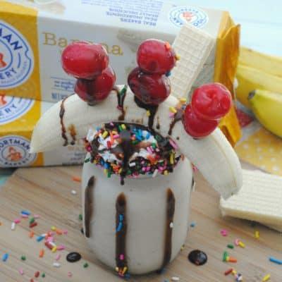 Banana Split Freakshake Recipe