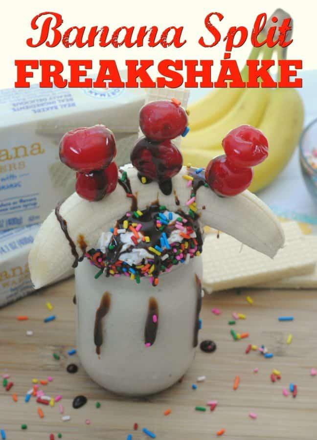 All Natural Banana Split Freakshake hero