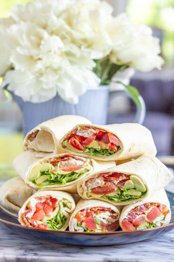 BLT Wraps with Avocado and Mozzarella from The Kittchen
