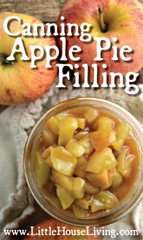 Canning Apple Pie Filling from Little House Living