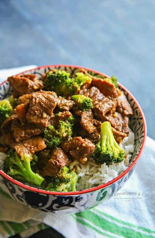 Instant Pot Beef and Broccoli from Kleinworth and Co.