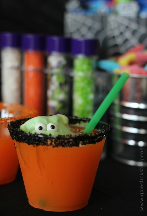 Little Green Monster Halloween Punch from Gluesticks Blog