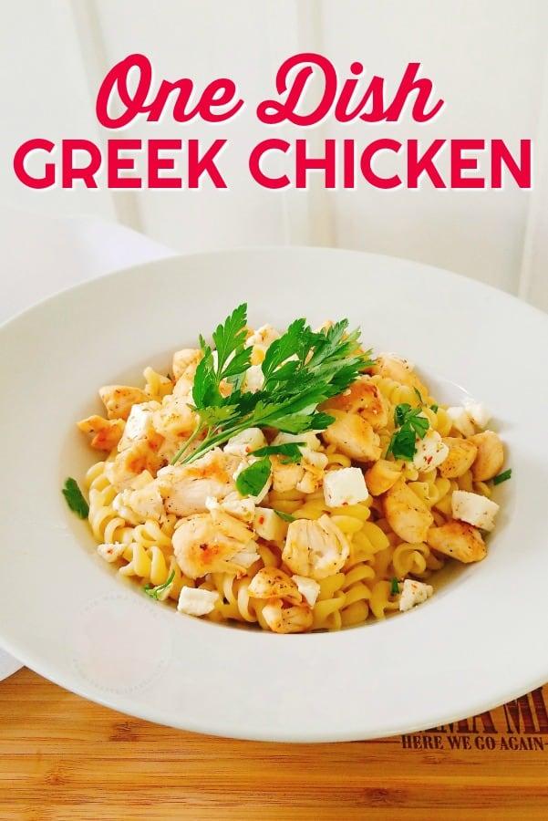 One dish Greek Chicken Dinner
