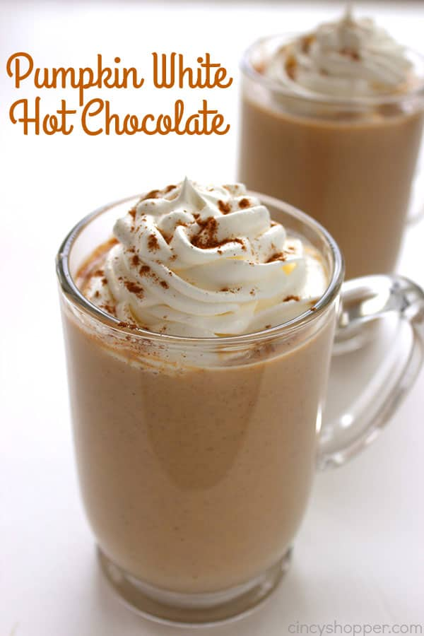 Pumpkin White Hot Chocolate from Cincy Shopper