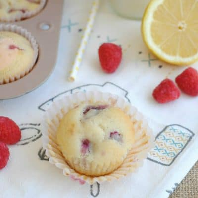 Raspberry Lemon Muffins + Peek at Sunset Bronze Appliances