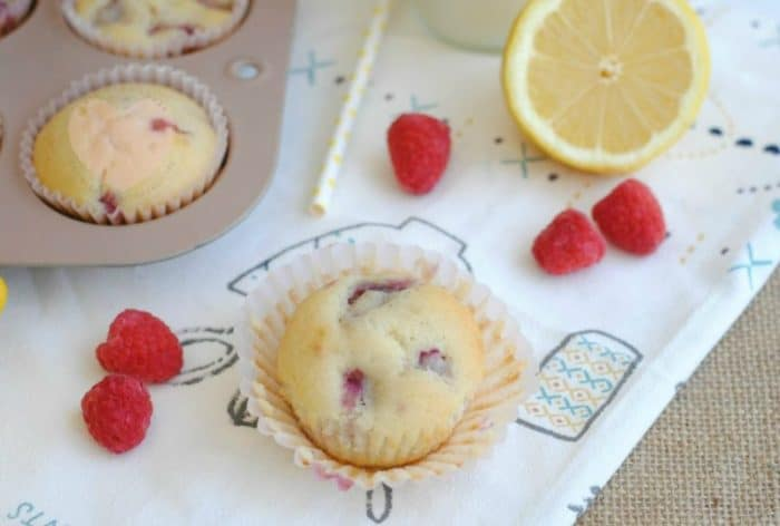 Raspberry Lemon Muffins Recipe from This Mama Loves