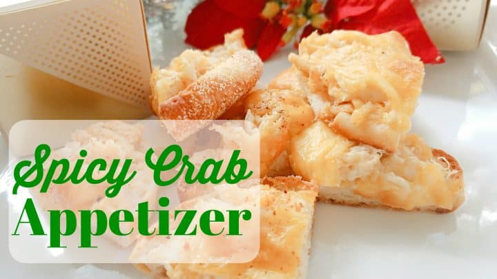 Spicy Crab Appetizer on English Muffins