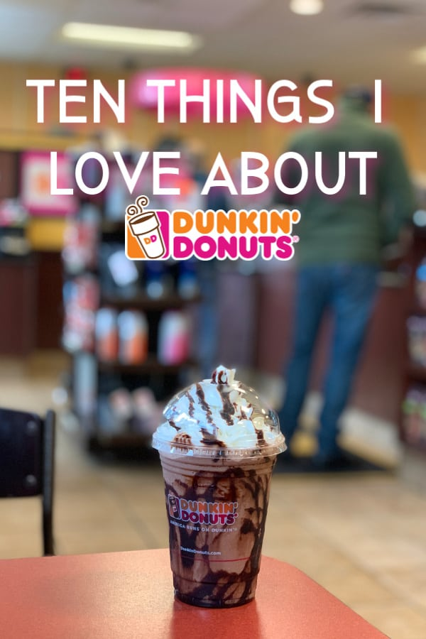 Ten Things I Love about Dunkin' including their new espresso blend which is the base for some amazing new handcrafted latte drinks in new, recyclable cups! #Dunkin #dunkindonuts #latte #espresso #icedlatte #coffee
