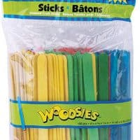 Colored Craft Sticks (with yellow)