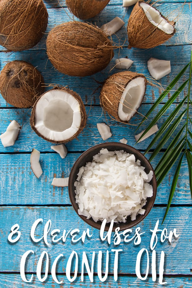 8 Clever Uses for Coconut Oil - ways to use coconut oil- cooking with coconut oil- coconut oil for dental health- coconut oil for mayonnaise