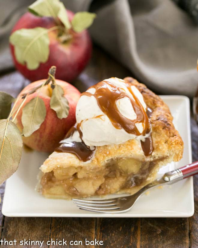 Caramel Apple Pie from That Skinny Chick Can Bake