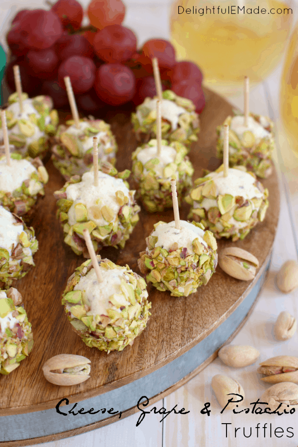 Cheese, Grape and Pistachio Truffles from Delightful E Made