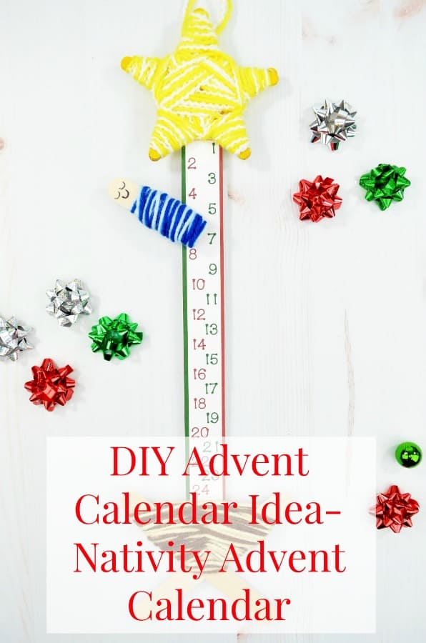 DIY Advent Calendar Ideas: Nativity Advent Calendar- faith based Advent calendar with simple materials- sweet and meaningful Advent countdown