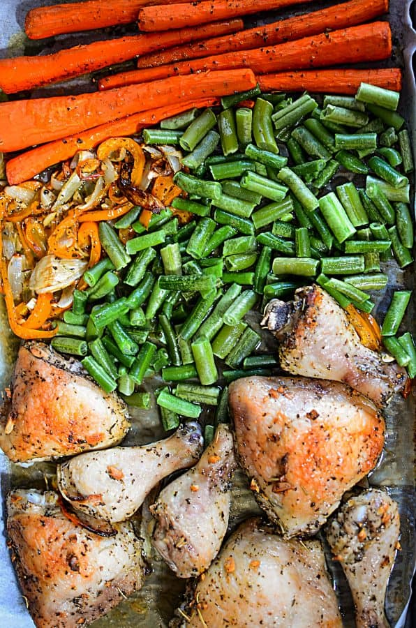 Low Carb Oven Roasted Chicken Sheet Pan Dinner Recipe