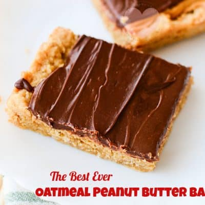 The Best Oatmeal Peanut Butter Bars Recipe EVER