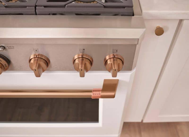 cafe matte bronze knobs customizable appliances