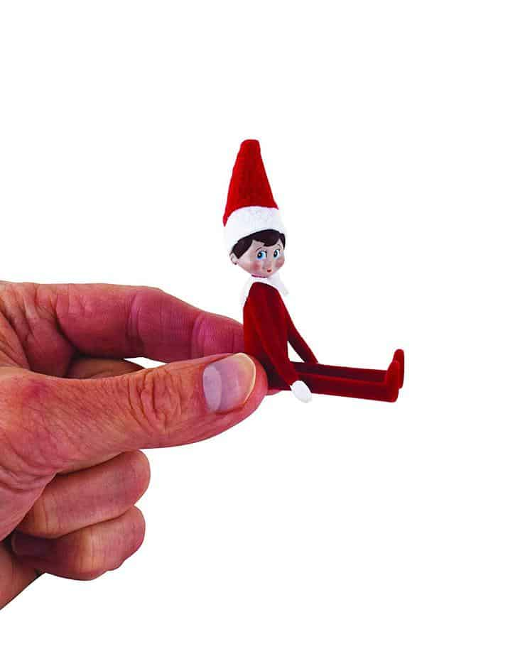 teeny tiny elf on the shelf