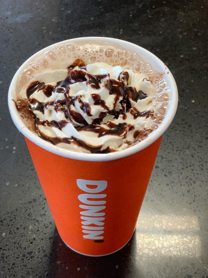 new dunkin mocha latte